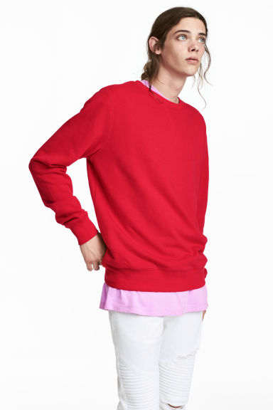 Lightweight sweatshirt - Red - Men | H&M CN