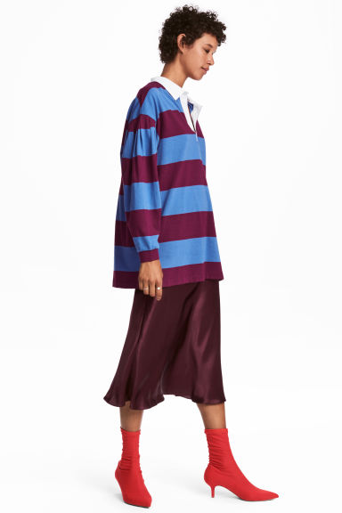Striped rugby shirt - Blue/Striped - Ladies | H&M IE 1