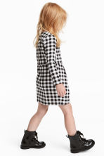 Patterned jersey dress - Black/White checked -  | H&M CN 1