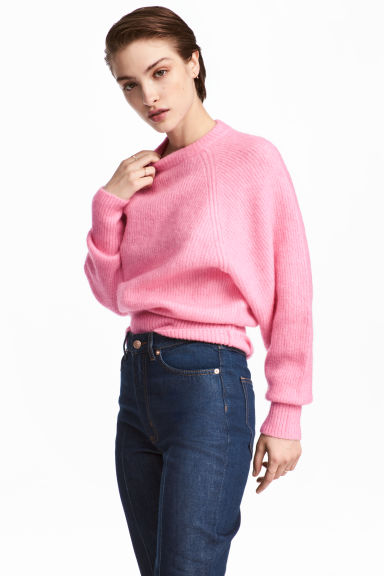 Mohair-blend jumper - Pink - Ladies | H&M CN 1