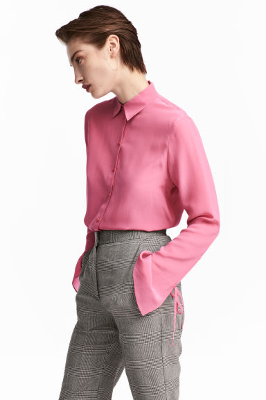 Silk shirt - Pink - Ladies | H&M CN