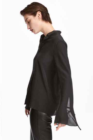 Silk shirt - Black - Ladies | H&M IE