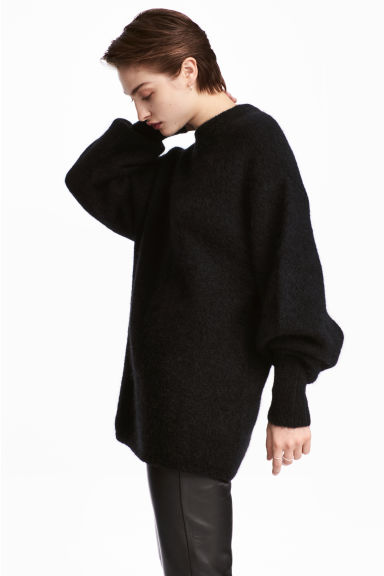 Knitted jumper - Black - Ladies | H&M 1