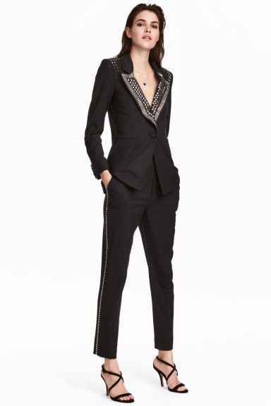 Suit trousers with studs Model