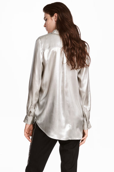 Shimmering metallic shirt