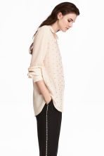 Blouse with studs - White - Ladies | H&M CN 1