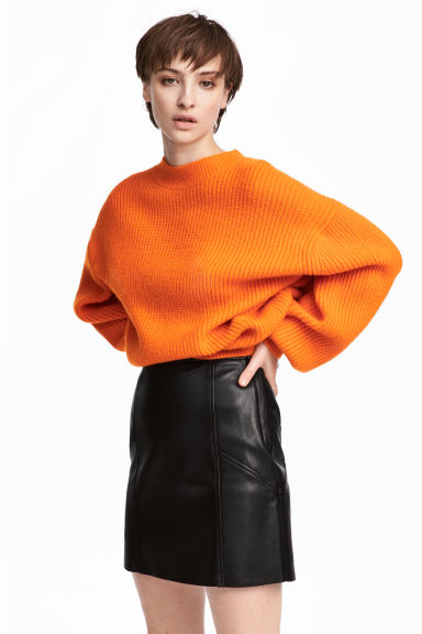 Ribbed jumper - Orange - Ladies | H&M