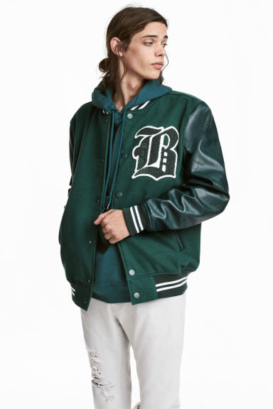 Giubbotto da baseball - Verde scuro -  | H&M IT 1