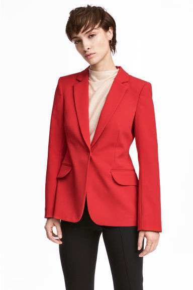 Fitted jacket - Red - Ladies | H&M GB 1