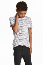 Lot de 2 T-shirts - Noir/blanc chiné -  | H&M FR 1