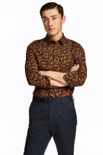 Patterned shirt Slim fit - Dark blue/Cats - Men | H&M 1