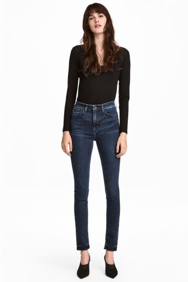 Shaping Skinny High Jeans - Dark denim blue - Ladies | H&M CN 1
