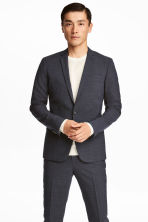 Jacket Skinny fit - Dark blue/Small checked - Men | H&M CN 1