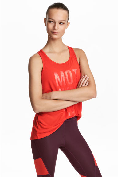 Sporttopje - Felrood - DAMES | H&M BE 1