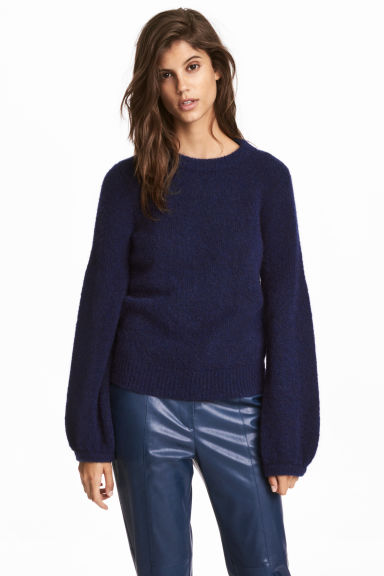 Mohair-blend jumper - Blue - Ladies | H&M CN 1