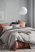 Washed linen duvet cover set - Linen beige - Home All | H&M CA 1