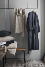 Washed linen dressing gown - Anthracite grey - Home All | H&M CA 1