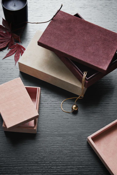 Small Suede Box - Pink - Home All | H&M CA 1