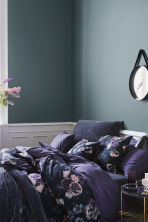 Washed cotton duvet cover set - Purple - Home All | H&M IE 1