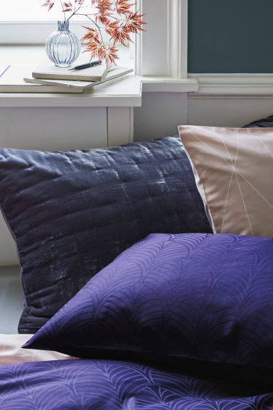 Jacquard-weave satin duvet set - Purple/Patterned - Home All | H&M GB