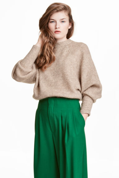 Jumper in a mohair blend - Beige - Ladies | H&M CN 1