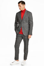 Suit trousers Slim fit - Black marl - Men | H&M CN 1