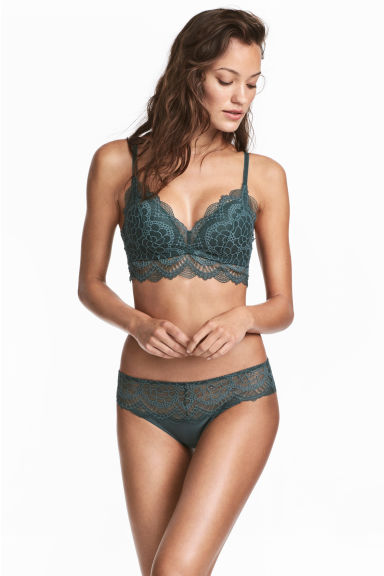 Lace hipster briefs - Petrol - Ladies | H&M IE