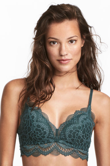 Beugelloze push-up bralette - Petrol - DAMES | H&M BE
