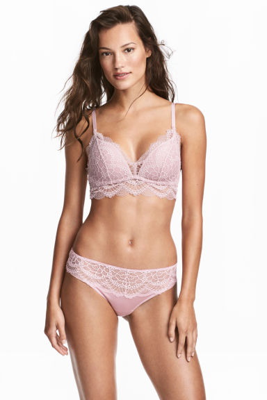 Lace hipster briefs - Dusky pink - Ladies | H&M IE 1