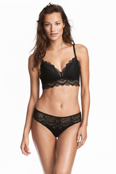 Lace hipster briefs - Black - Ladies | H&M 1