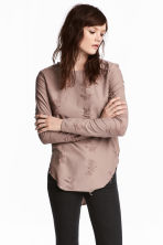 Trashed top - 褐色 - Ladies | H&M CN 1
