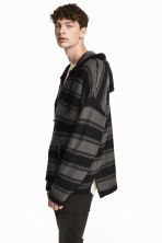 Knitted hooded jumper - Black/Grey/Striped - Men | H&M CN 1
