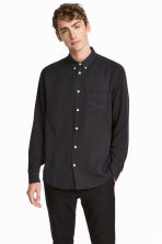 Lyocell shirt - Black - Men | H&M 1
