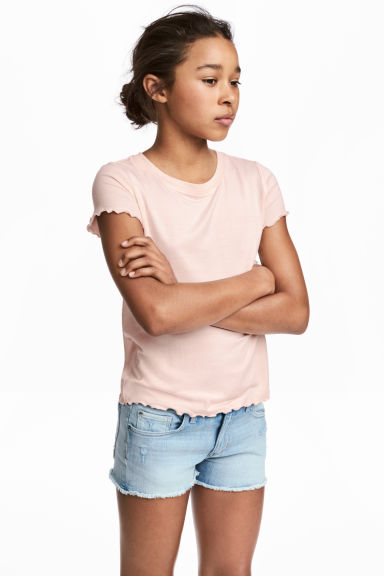 Jersey top - Powder pink -  | H&M CN 1