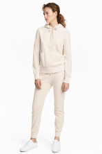 Velours joggers - Gebroken wit - DAMES | H&M BE 1