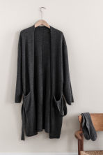 Cashmere-blend dressing gown - Anthracite grey - Home All | H&M CN 1