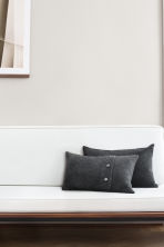 Cashmere-blend cushion cover - Anthracite grey - Home All | H&M CN 1