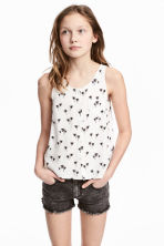 Sleeveless top - White/Palms -  | H&M 1