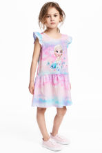Printed jersey dress - Pink/Frozen - Kids | H&M 1