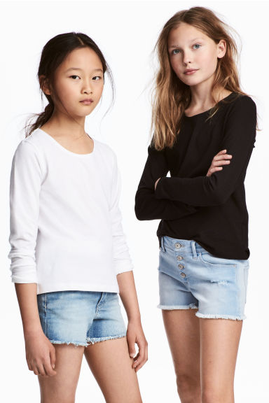 Set van 2 T-shirts - Zwart -  | H&M BE 1