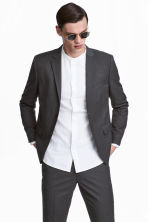 Blazer - Slim fit - Donkergrijs -  | H&M BE 1