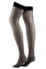 20 denier nylon stockings - Black -  | H&M 3