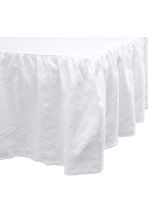 Washed linen valance - White - Home All | H&M GB 3