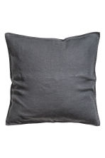 Washed linen cushion cover - Anthracite grey - Home All | H&M CN 2