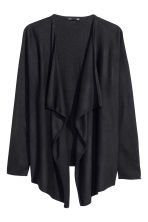 Fine-knit cardigan - Black -  | H&M CN 7