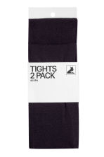 2-pack 40 denier tights - Black -  | H&M GB 2