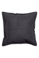 Washed linen cushion cover - Anthracite grey - Home All | H&M GB 3