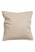 Washed linen cushion cover - Linen beige - Home All | H&M CN 3