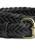 Braided belt - Black - Ladies | H&M CN 3