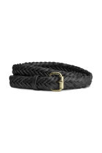 Braided belt - Black - Ladies | H&M CN 1